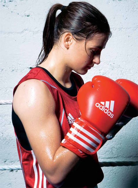 Katie Taylor. Olympic boxing gold medalist. Irish national soccer team member. Born-again Christian. General bad-ass.