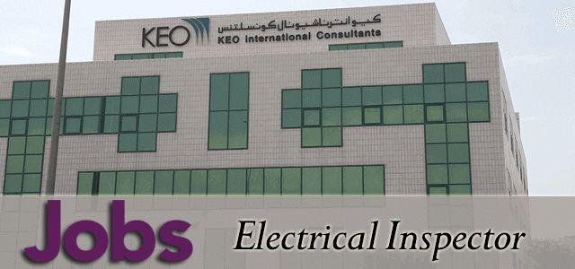 KEO International Consultants Jobs as Electrical Inspector in UAE, Dubai Visit jobsingcc.com for more info @ http://jobsingcc.com/keo-international-consultants-jobs-electrical-inspector/