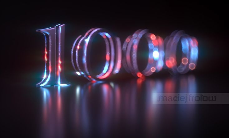 Typography created to celebrate 1000 followers on Behance #madewithmodo #octanerender