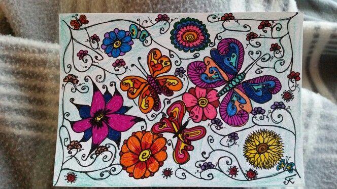 Schmetterlinge, gemalt, mein Bild, meine Arbeit tk