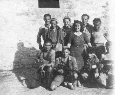 Partigiani della Compagnia di Amato a Poggio di Cavina San Pietro (settembre 1944)