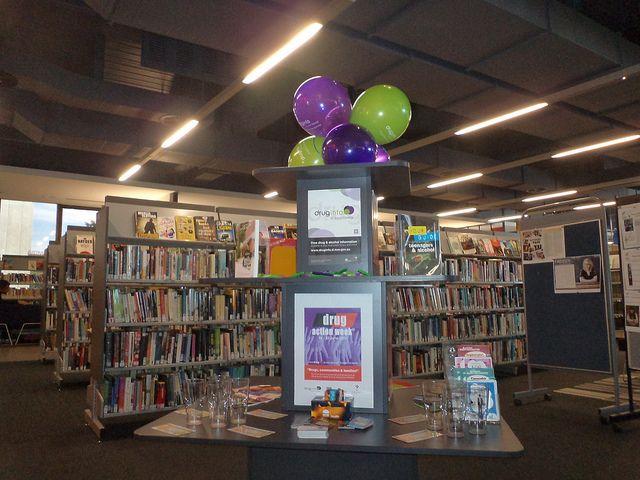 Drug Action Week display @ Ashfield Library