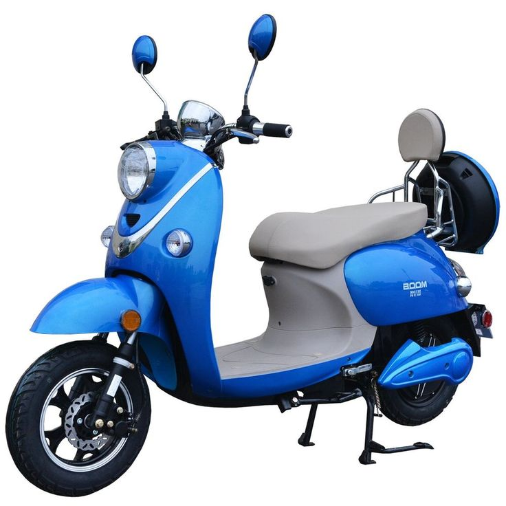 Boom 800W 48V Electric Moped Scooter 573N Brushless Motor Blue #Boom