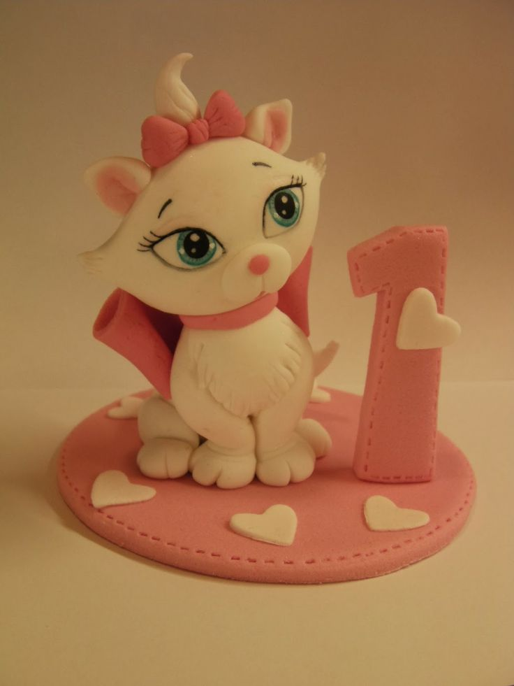"Studio ""FONDANT DESIGN ANA"" - Figurice za torte (fondant figures): MACA MARI (MARIE THE CAT)"
