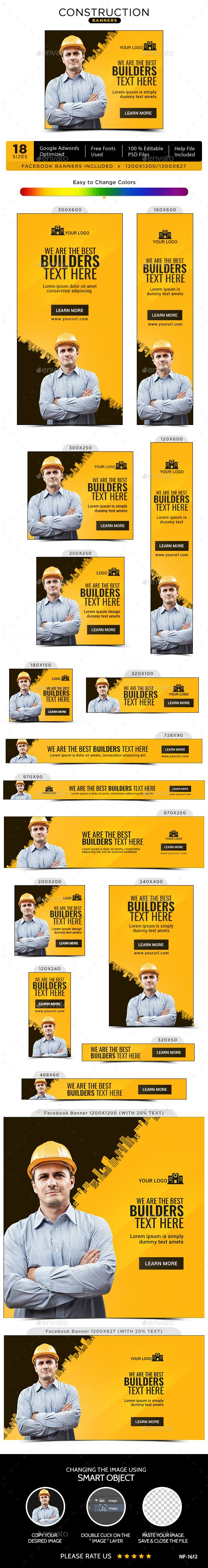 Construction Banners Template PSD