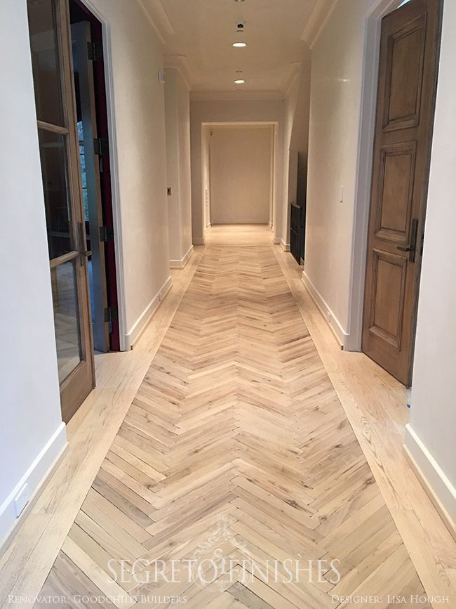 herringbone floor details... Tale of Four Projects - Segreto - Floors by Custom Floors Unlimited