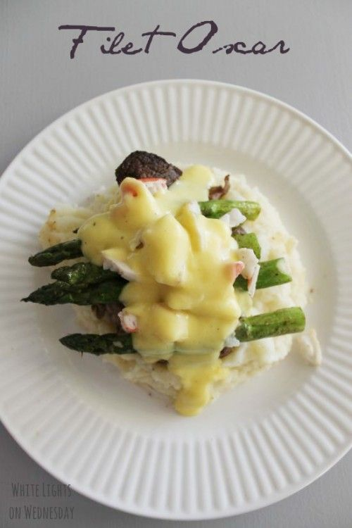 Oscar-Style Steaks _ I'm talking Asparagus, Crab, and Bearnaise sauce to give you the best Oscar-Style Steak ever! I crave a beautifully marbled (see: fatty) Ribeye or melt-in-your-mouth Filet. Mmmmm.