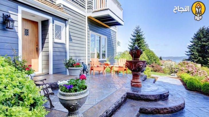 9 أفكار بسيطة لتزيين مدخل المنزل Outdoor Decor Patio House Styles
