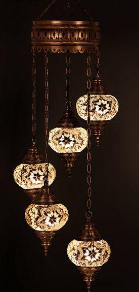 5 ball Arabian Mosaic Lamps Moroccan Lantern by BeautyofTurkey