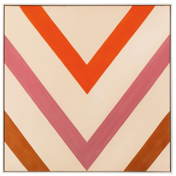 KENNETH NOLAND Flush, 1963 Acrylic on canvas 69 1/4 × 69 1/4 in 175.9 × 175.9 cm