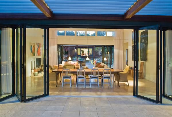 Glass accordian doors. An absolute must in the forever house.