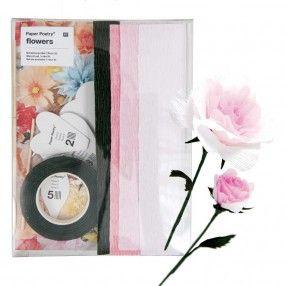 DIY Papierblumen-Set Rose - idee. Online-Shop