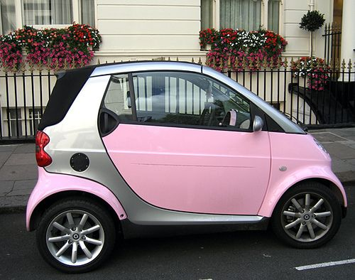 Pink Smart car by rolala photo, via Flickr