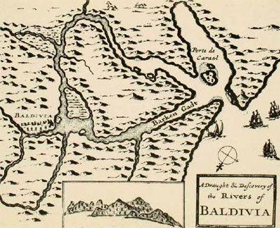 mapa1PLANO DE VALDIVIA ELABORADO POR LOS EXPLORADORES HOLANDESES. 1643