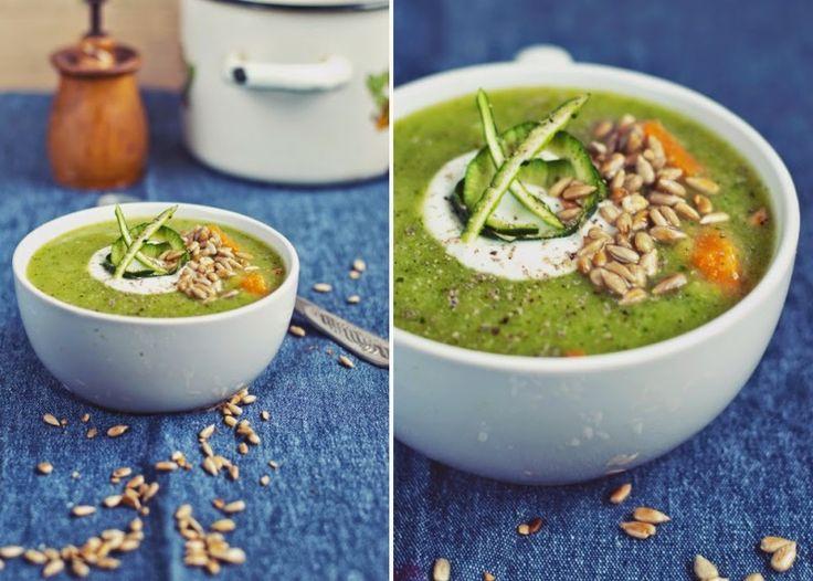 Zupa krem z cukinii i brokułów