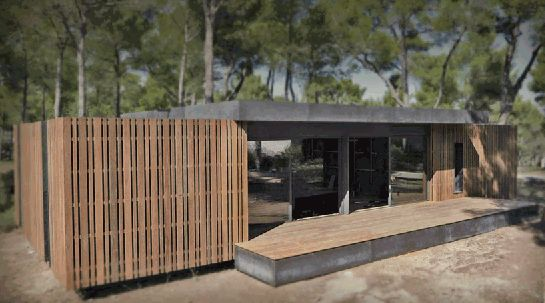 "finally a prefab ""passive house"" that actually looks good. this pop-up house by Multipod Studio, Marseille in france, can be erected in just 4 days and with only a screwdriver (and a couple of hands i'm guessing) they say it is low cost and fills all the requirements for being a passive home. I would live in one without a doubt. AT."