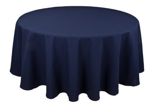 Riegel Permalux Cottonblend 90-Inch Round Tablecloth, Flag Blue #NotApplicable