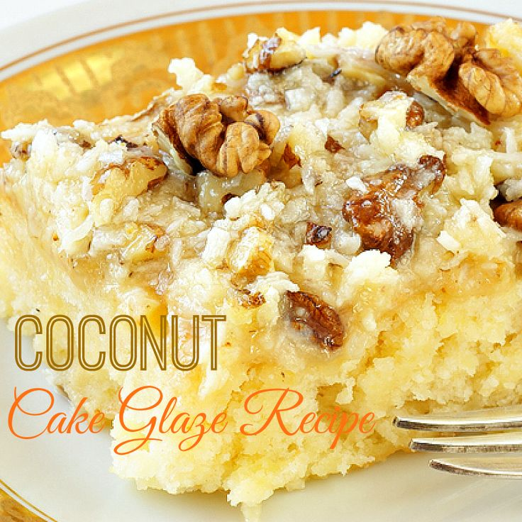 Do you love coconut? I do! Surround it with nuts and a gooey, warm sweet glaze on top of cake right-out-of-the oven and, YUM!  /  ducksnarow.com