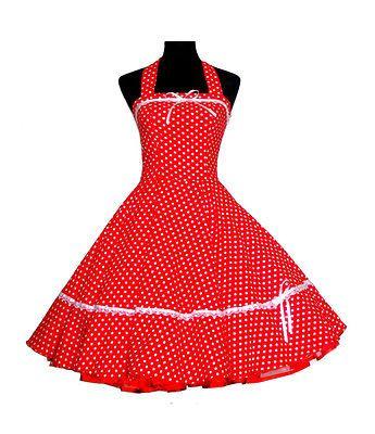 Vintage Tea Dress Dancing Party Rockabilly Swing Prom Jive Spot Polka 50's 60's
