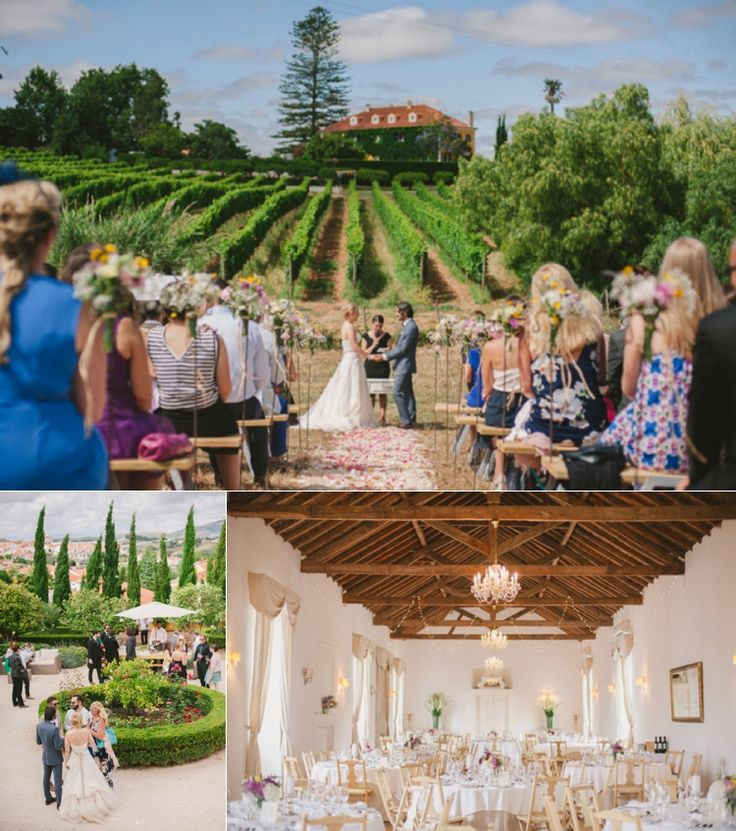 @quintadesantana is a family run historic wine estate, located just half an hour from Lisbon airport and featuring amazing views of the surrounding countryside. Images: Piteira Photography  #Portugal #Destinationwedding #weddingvenue #Quinta