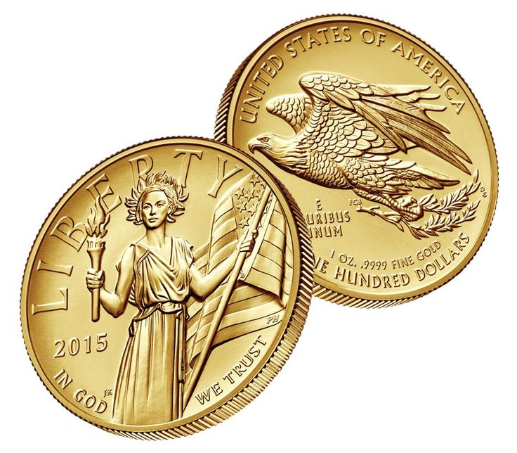 2015 American Liberty High Relief Gold Coin 24k One