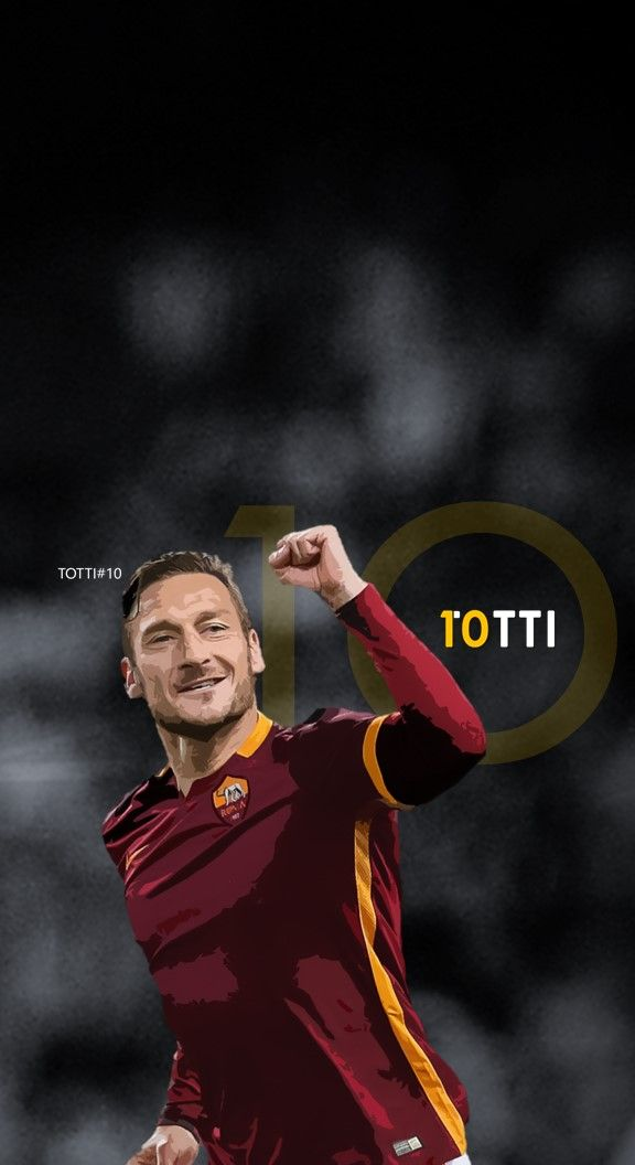 Francesco Totti - Roma Football - Soccer Creative Art - iPhone 6 wallpaper