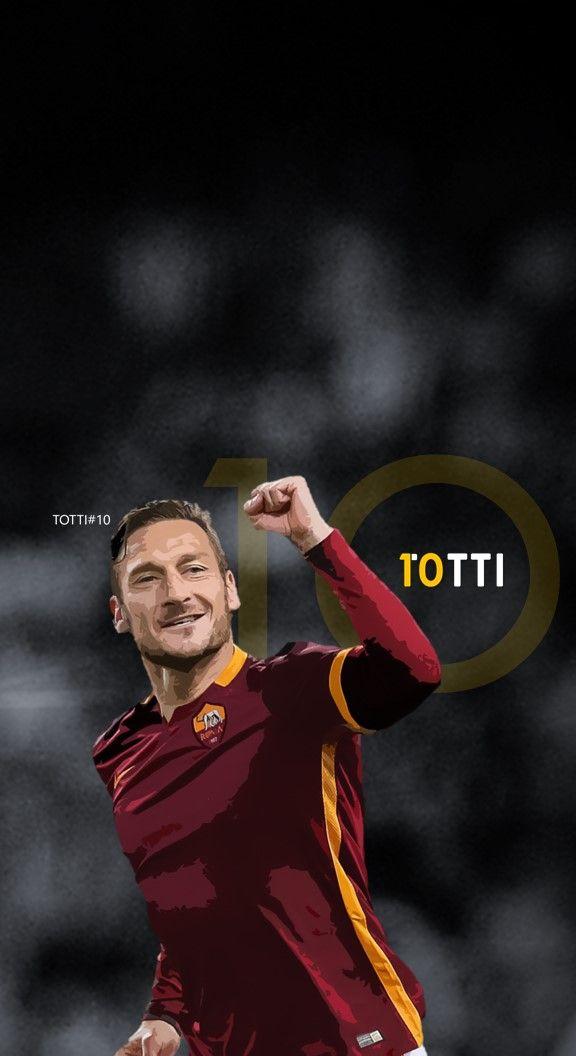 Francesco Totti - Roma Football - Soccer Creative Art - wallpaper