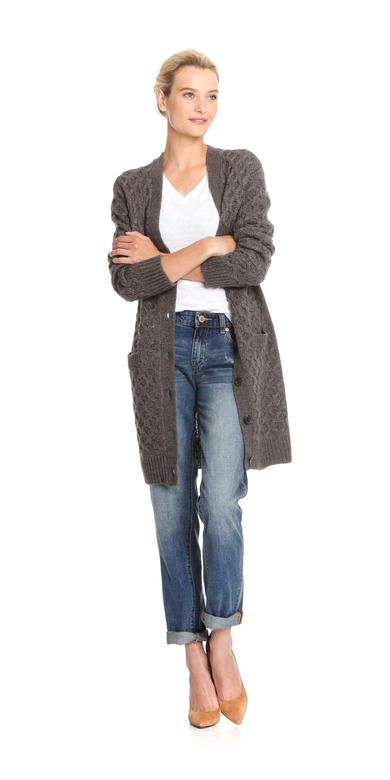 Chunky Knit Cardigan from Joe Fresh. Stay stylish and cozy in textured cable knit. Only $34.30.