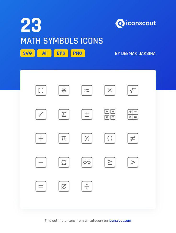 Download Math Symbols Icon Pack Available In Svg Png Eps Ai Icon Fonts Icon Pack Symbols Icon