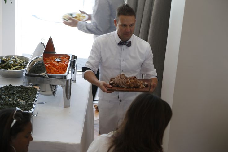 Serving lunch at our event