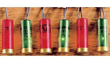 Sportsman's Red and Green 12-Gauge Shotshell Lights. Sweet!!!