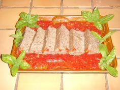 papeton d'aubergine et coulis de tomate
