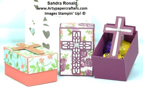 Hi my Stampin' Friends, today's paper craft tutorial makes a gorgeous Gift Box for Easter that holds 2 small eggs and a little KEEPSAKE. Here is my video to show how it is made...