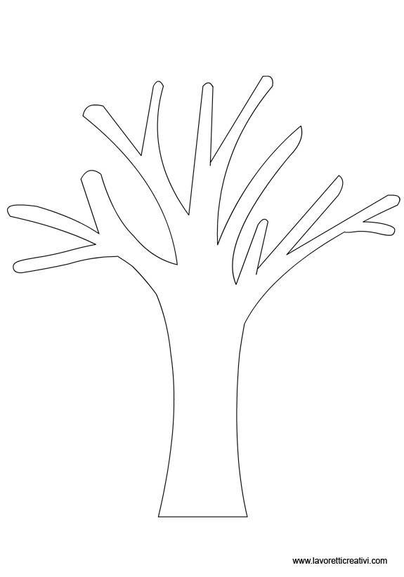 SAGOME ALBERI Le sagome degli alberi utili per realizzare decorazioni con la carta o il compensato. Scegliete l'immagine che vi piace di più, le sagome son