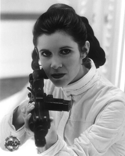 Carrie Fisher as Princess Leia from Star Wars The Empire Strikes Back