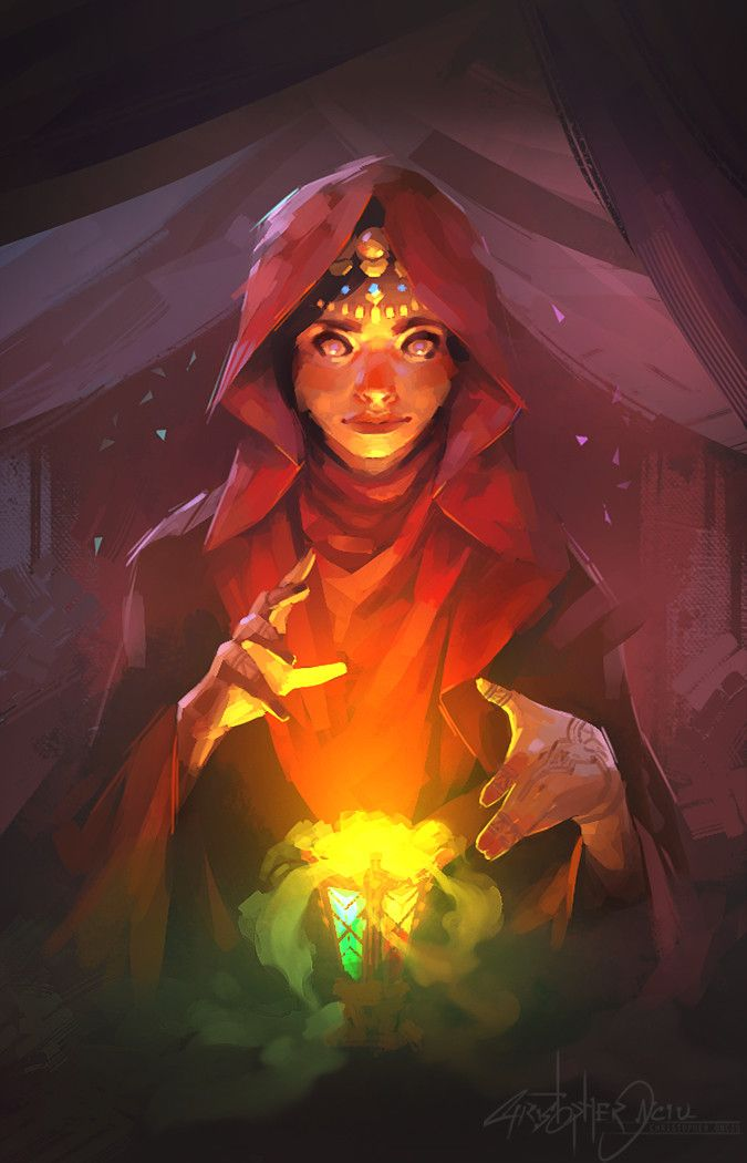 Illustration - Seer, christopher onciu on ArtStation at…