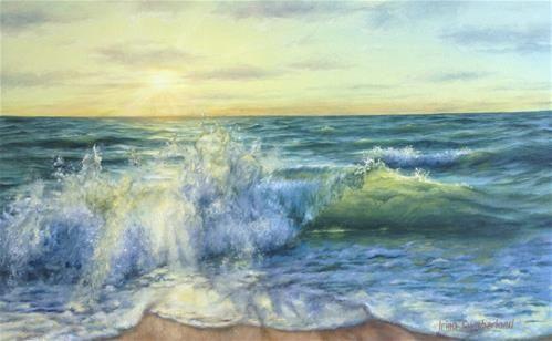 "Daily Paintworks - ""Happy Wave"" - Original Fine Art for Sale - © Irina Cumberland"