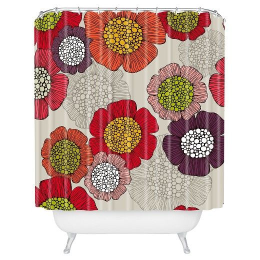 "Valentina Ramos Selene in Pink Shower Curtain by DENY Designs (71""x74"") : Target"