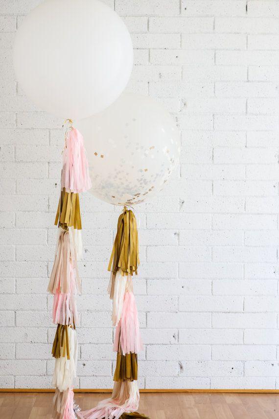 Balloon Tassel // Champagne Blush // Pink by LovePrettyDetails