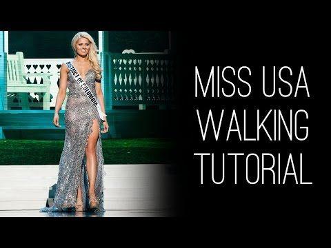 Miss USA How-to: Walk Like Miss USA with Lu Sierra - YouTube