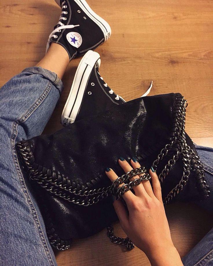 """rosegalfashion: """" """" Le mie #converse con la zeppa hanno finalmente trovato la loro borsa perfetta! Grazie""""_ tanto.di.cupcake @rosegalfashion free shipping worldwide #rosegal.com """""""