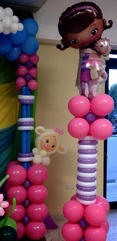 Doc Mcstuffins Balloon Decoration