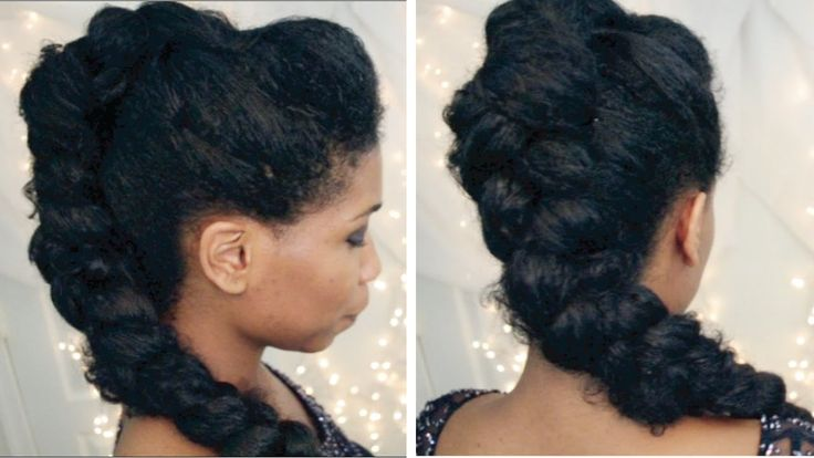 Selena Gomez Braided Mohawk on Natural Hair | Party Clubbing Hairstyles