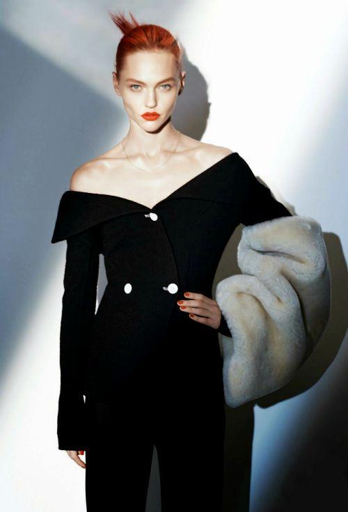 "Sasha Pivovarova in ""Incendiaire"" for Vogue Paris August 2014, by David Sims."
