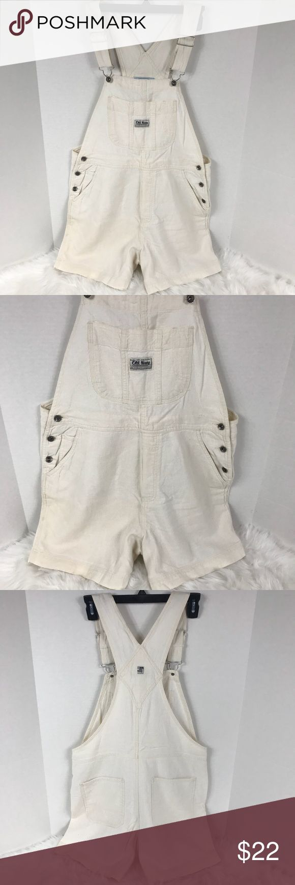 Old Navy Bib Romper Shortalls Overall Shorts Med OLD NAVY Linen Cotton Bib Romper Shortalls Khaki Beige Tan Shorts Women's Medium GUC Vtg Vintage 90s 80s 70s 60s 50s 40s  No tears, no flaws. Smoke-free home.  Perfect overall shorts at a great price. Why pay high retail department store prices for brand names? Check out my closet for more great deals.  Flat lay measurements in inches:  Waist: 17.5 Inseam: 5 Rise: 12 Old Navy Jeans Overalls