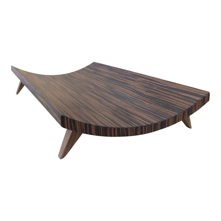 Large Curved Wood Tray
