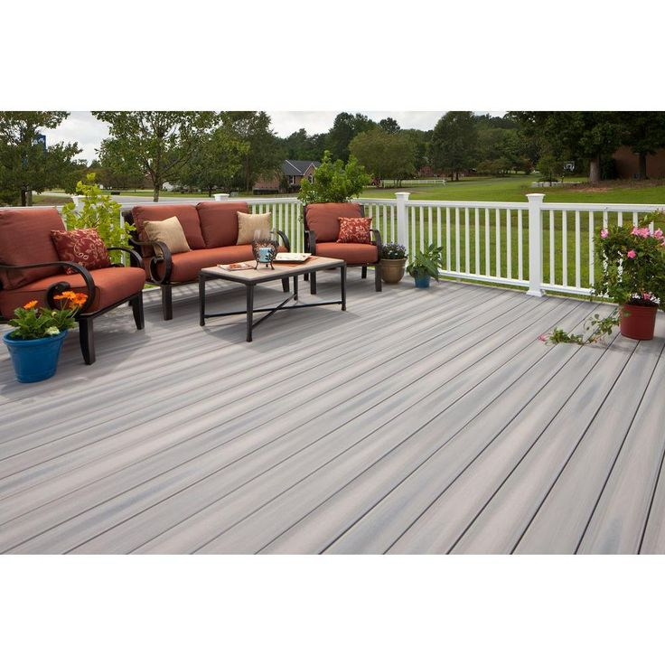 Veranda ArmorGuard 1 in. x 5-1/4 in. x 20 ft. Seaside Gray Grooved Edge Capped Composite Decking Board (56-Pack)-BRDVCG SSG 20-56PK - The Home Depot