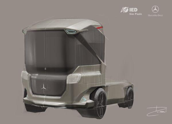 Mercedes Benz 2020 light Truck - José Derbli - sketch