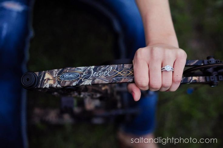 Country Engagements | Salt & Light Photography #barn #field #wedding #photographer #love #camo #hunting #bows #ring