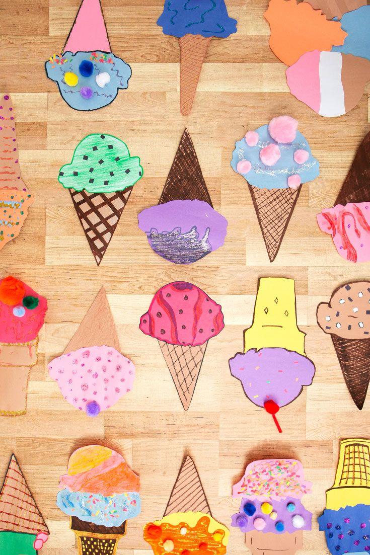 How to Make Cute Paper Ice Cream Cone Crafts | Ice cream cone ...